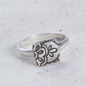 Lotus Stacking Ring Silver