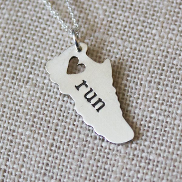gift for runners necklace - Abella Blue