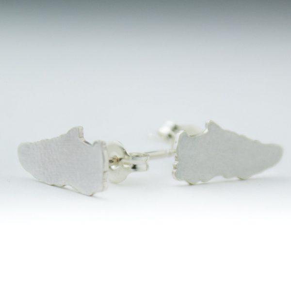 sterling silver Running earrings - Abella Blue