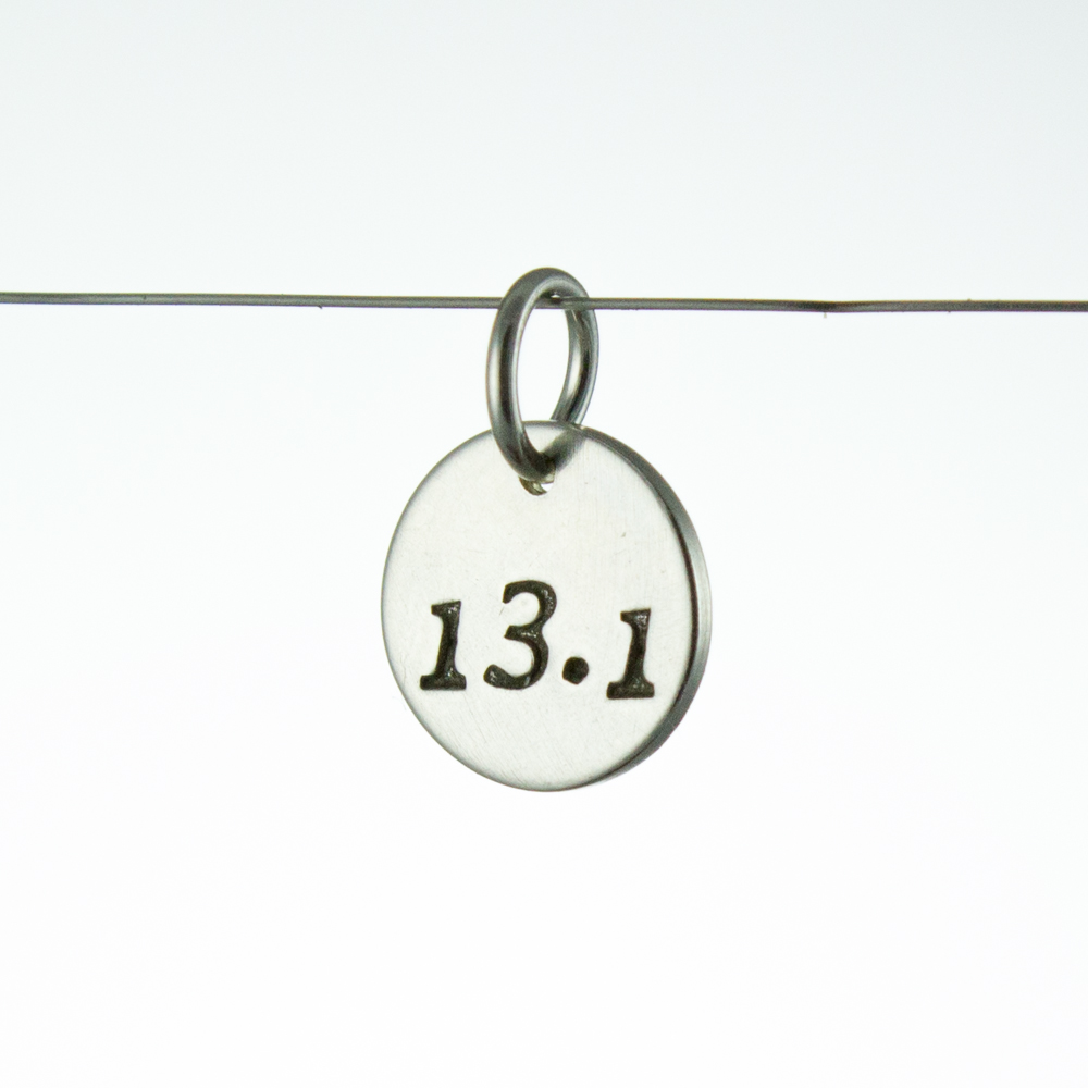 13.1 Running Charm Sterling Silver by Abella Blue