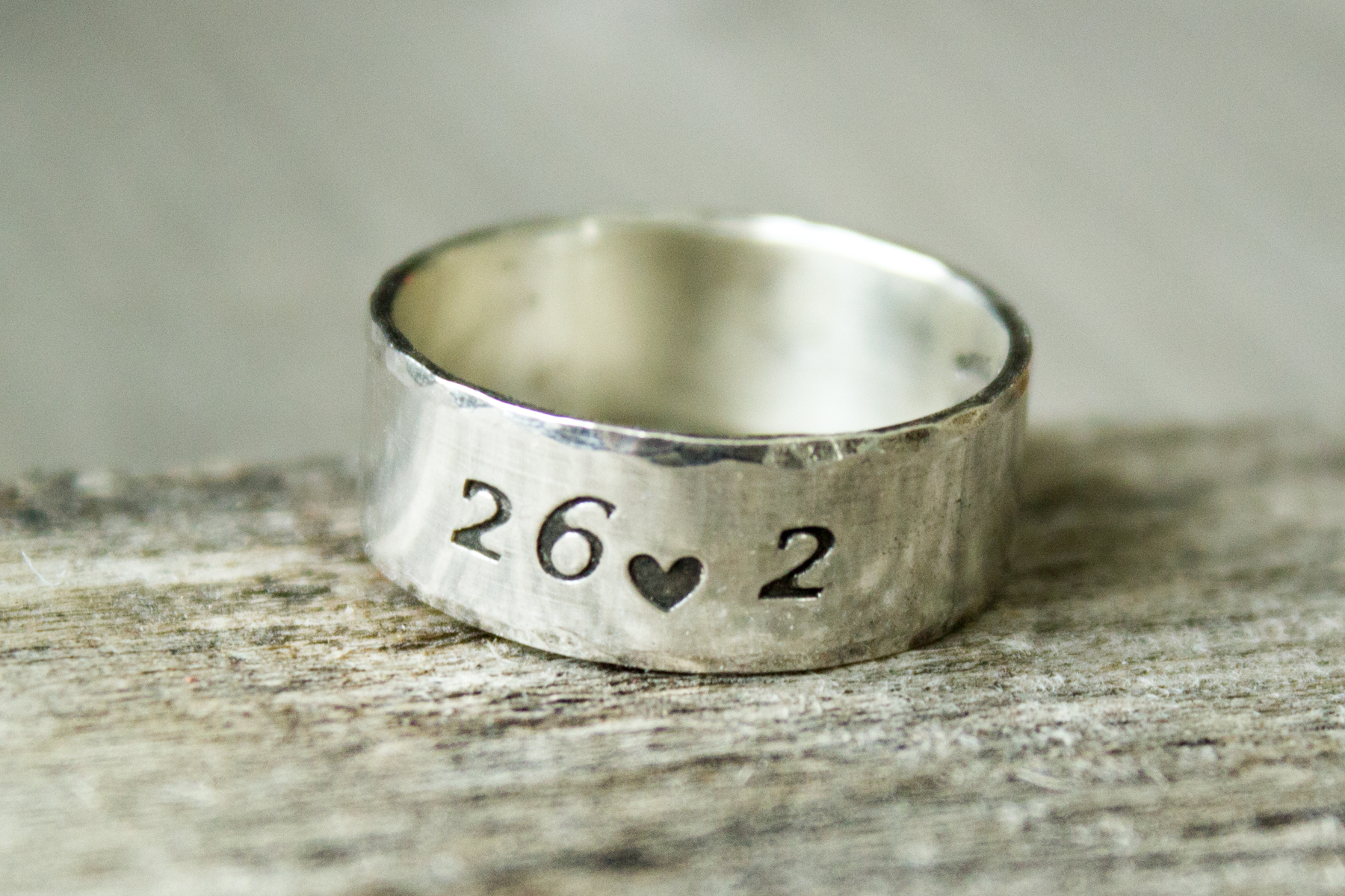 Running Ring - Sterling Silver Running Ring - Custom Running Ring - Run Ring - Gifts for Runners - Abella BLue
