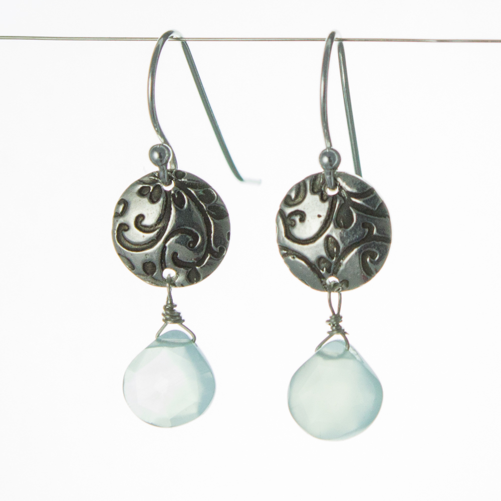 handmade Chalcedony Earrings