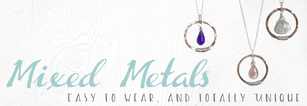 Mixed Metal Necklaces by Abella Blue