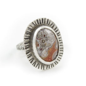 Crazy Lace Agate textured Ring by Abella Blue