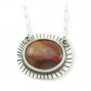 Rust Colored Gemstone tribal necklace