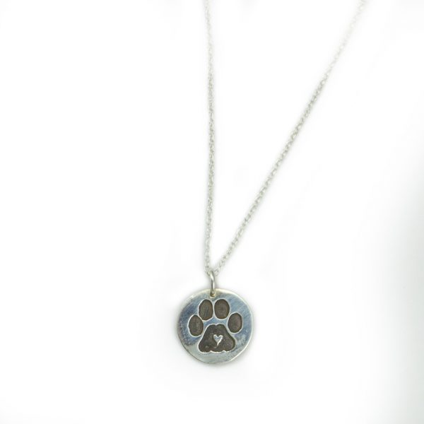 Puppy paw print Necklace