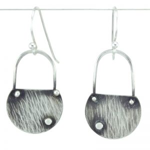 Ripple silver earrings
