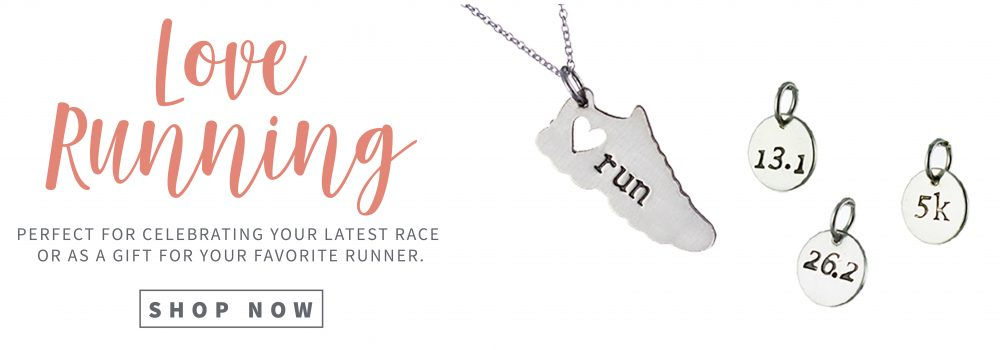Handmade unique running jewelry by Abella Blue