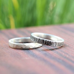 Men's Textured Silver Rings