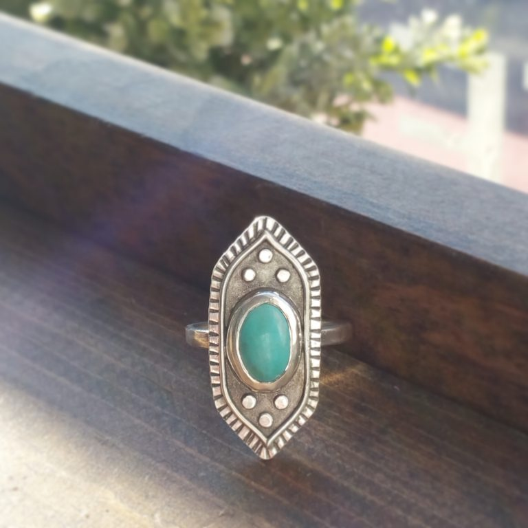 Moroccan-Lotus-flower-inspired-turquoise-ring