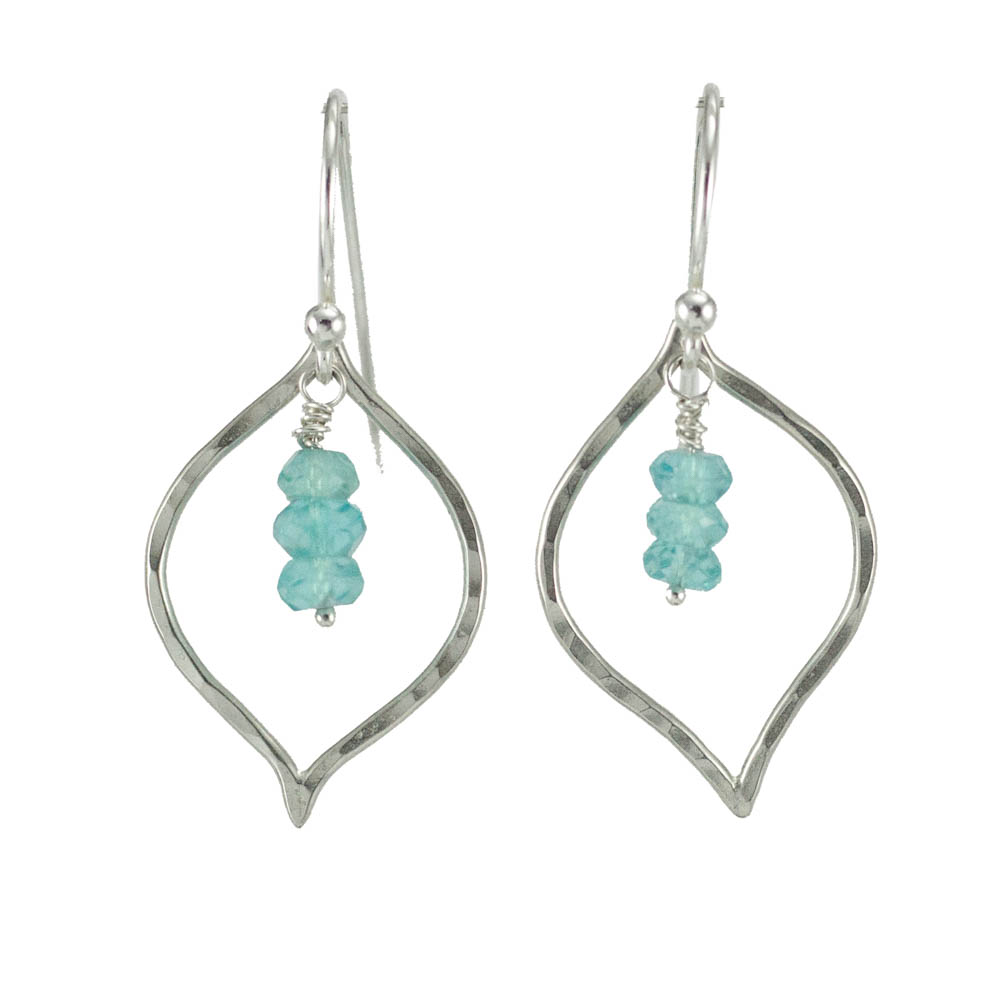 Handmade Ocean Blue Petal Earrings