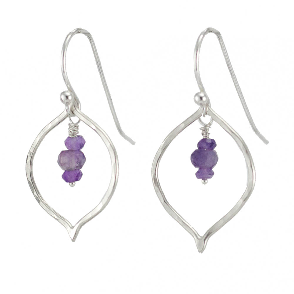 Petal Earrings in Amethyst