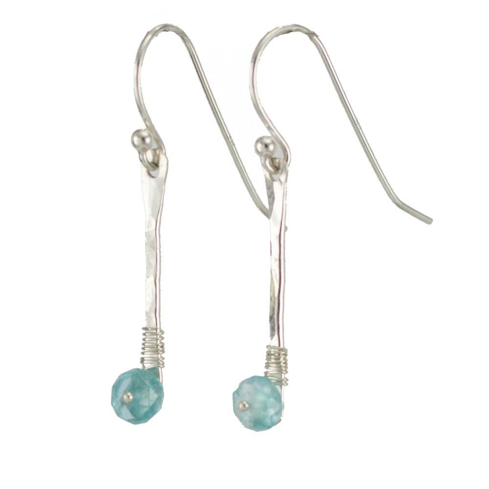 Apatite Gemstone Earrings by Abella Blue